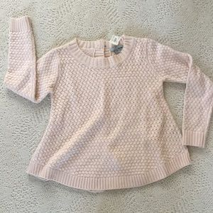 Blush pink sweater with buttons down back